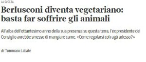 Berlusconi vegetariano