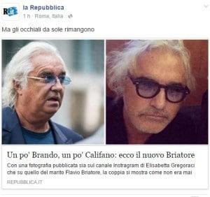 Flavio Briatore, nuovo look