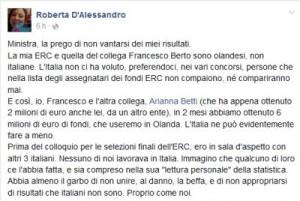 Post di Roberta D'Alessandro