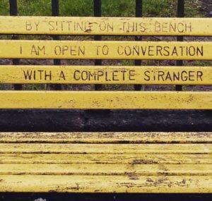 Una panchina a Dublino